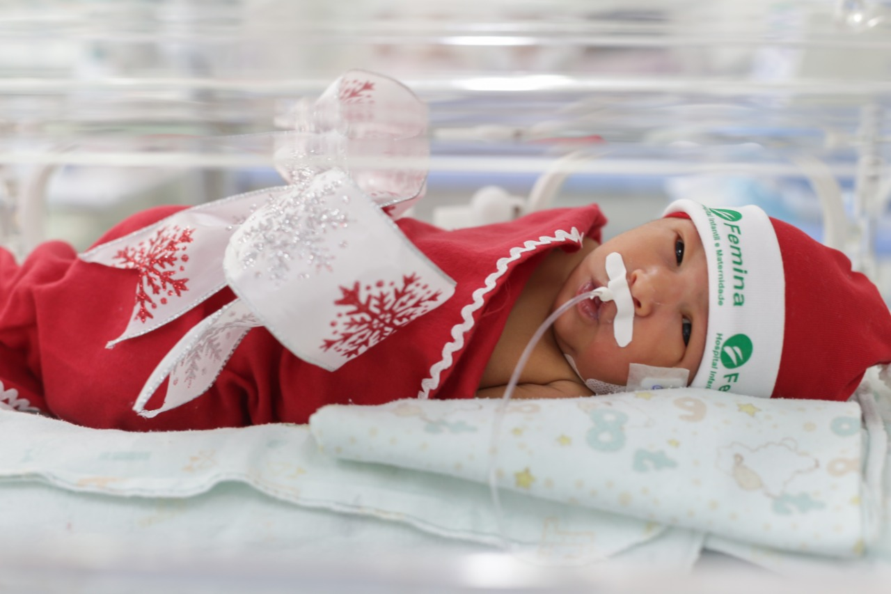 Hospital presenteia pais com ensaio fotográfico de bebês internados em UTI